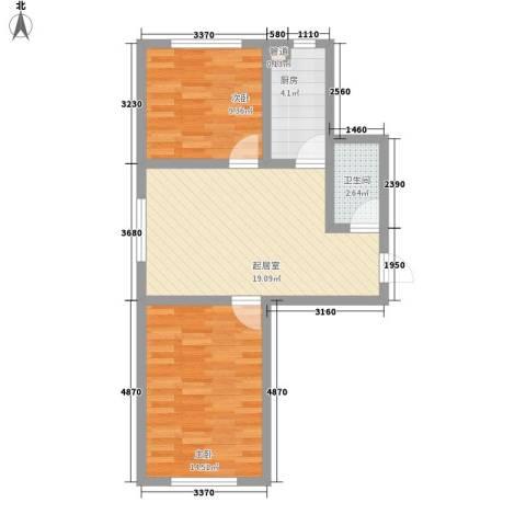 大江原筑2室0厅1卫1厨81.00㎡户型图