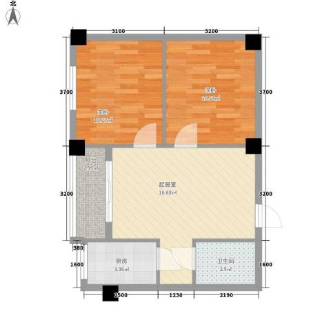 金龙新村2室0厅1卫1厨100.00㎡户型图