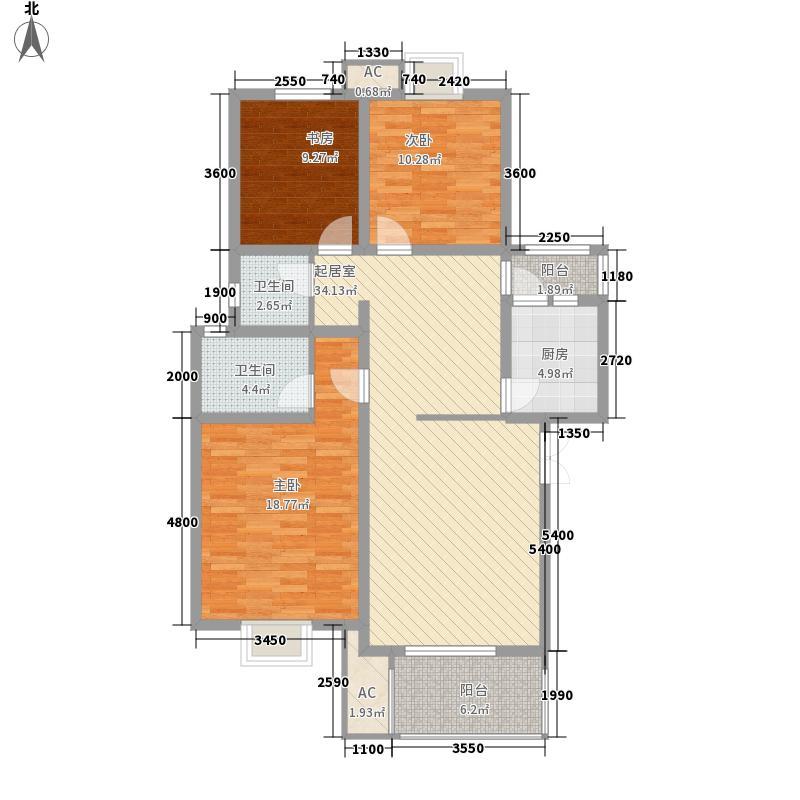 美联墅2号113.24㎡A型尚品佳园户型3室2厅2卫1厨