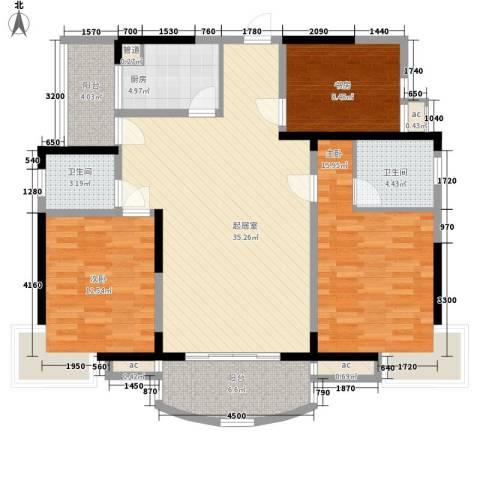 新芙蓉之都3室0厅2卫1厨111.33㎡户型图