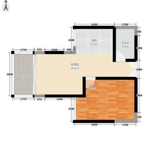 富苑盛世城1室0厅1卫0厨192.00㎡户型图
