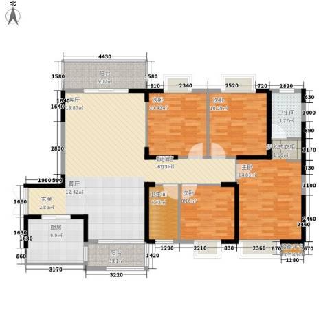 钱隆学府二期4室0厅2卫1厨138.00㎡户型图