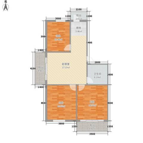 交通宿舍3室0厅1卫0厨120.00㎡户型图
