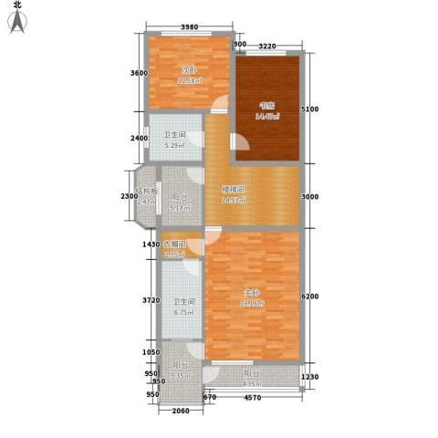 湖光科技新村3室0厅2卫0厨142.00㎡户型图