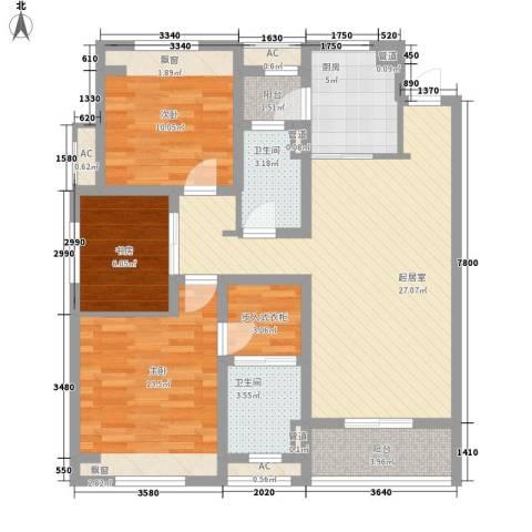 朗诗未来树3室0厅2卫1厨118.00㎡户型图