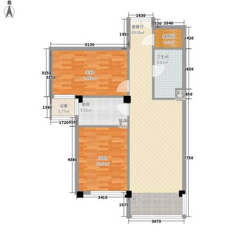 通惠家园惠民园2室1厅1卫1厨108.00㎡户型图