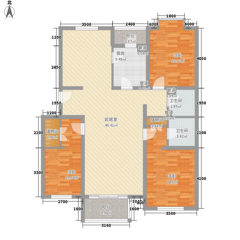 钢南生活区1-1户型3室2厅1卫1厨
