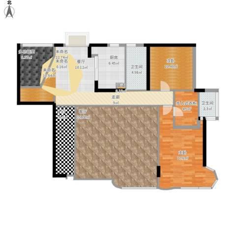 孔目江1号2室1厅2卫1厨165.00㎡户型图