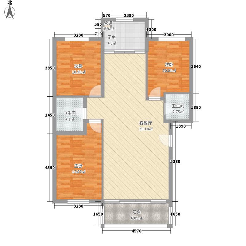 天庆花园12.00㎡户型3室