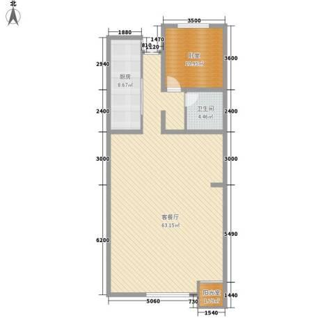 湖光科技新村1厅1卫1厨123.00㎡户型图