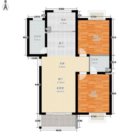 学墅丽邦2室0厅2卫1厨96.00㎡户型图