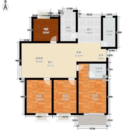 学墅丽邦4室0厅2卫1厨142.00㎡户型图