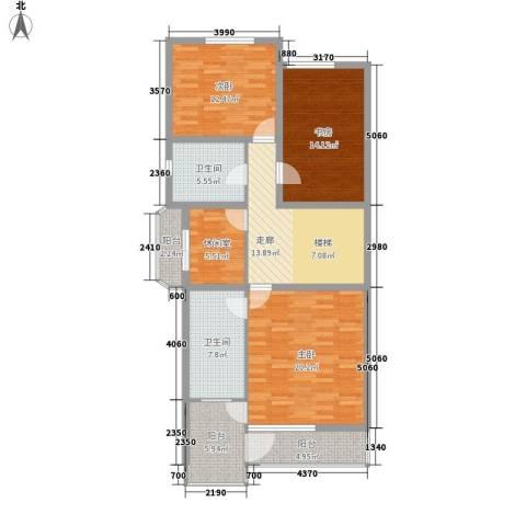 南湖职工新村3室0厅2卫0厨132.00㎡户型图