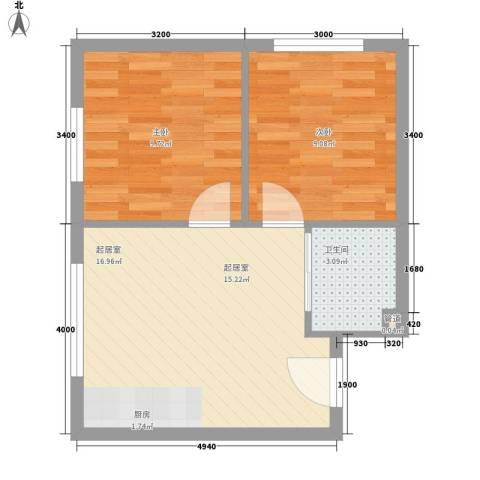 紫荆花园2室0厅1卫0厨54.00㎡户型图