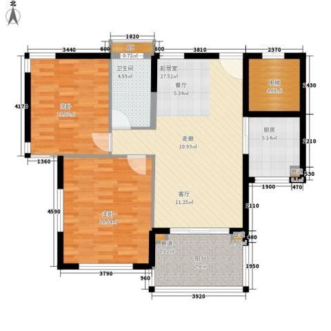 石梅山庄2室0厅1卫1厨98.00㎡户型图