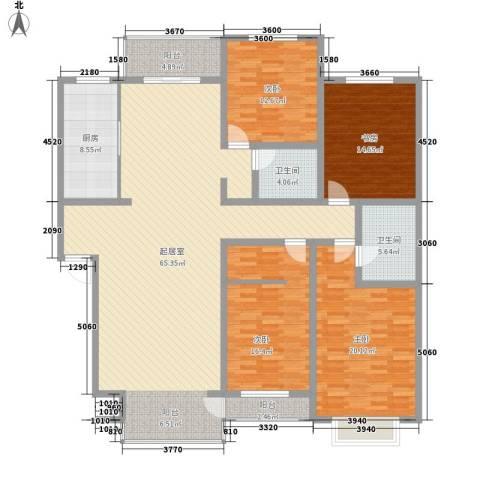 南湖职工新村4室0厅2卫1厨218.00㎡户型图