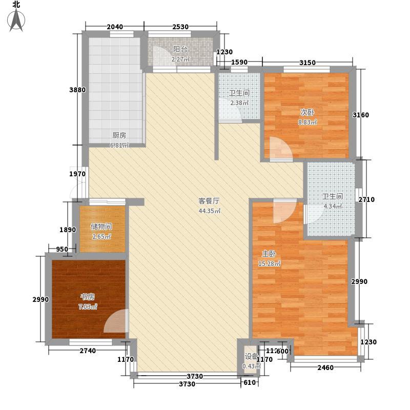 红光苑132.00㎡户型3室2厅1卫1厨