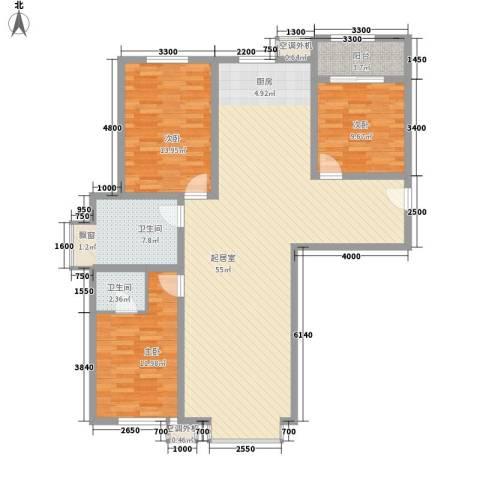 中研小区3室0厅2卫0厨149.00㎡户型图