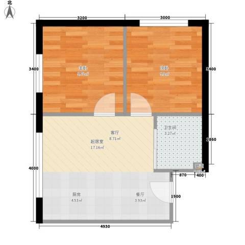 公交集团2室0厅1卫0厨54.00㎡户型图