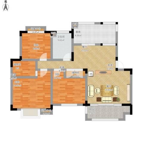 御庭苑3室1厅1卫1厨138.00㎡户型图