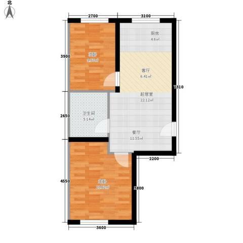 公交集团2室0厅1卫0厨70.00㎡户型图