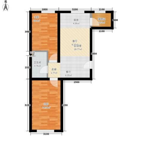 公交集团2室0厅1卫0厨74.00㎡户型图