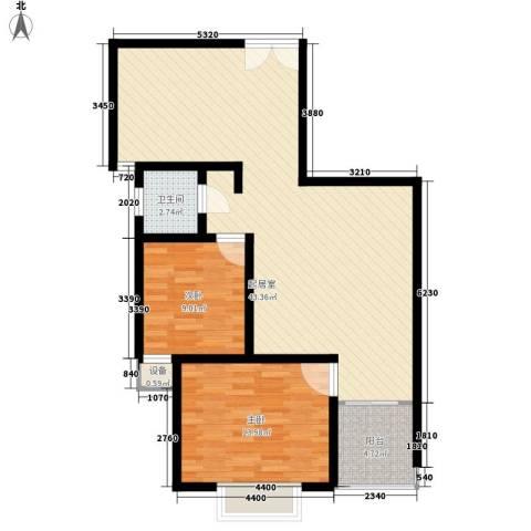 百步滨江2室0厅1卫0厨106.00㎡户型图
