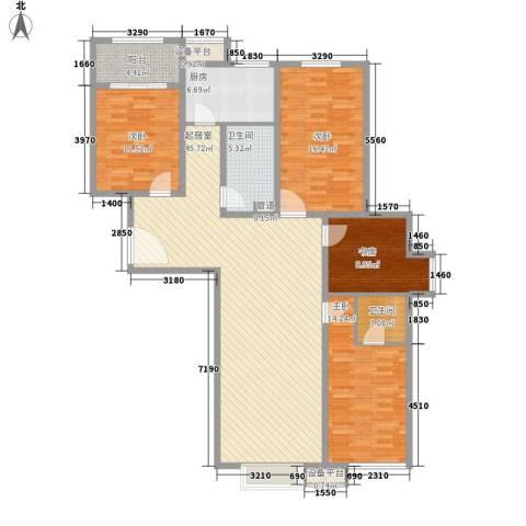 西昌小区4室0厅2卫1厨167.00㎡户型图