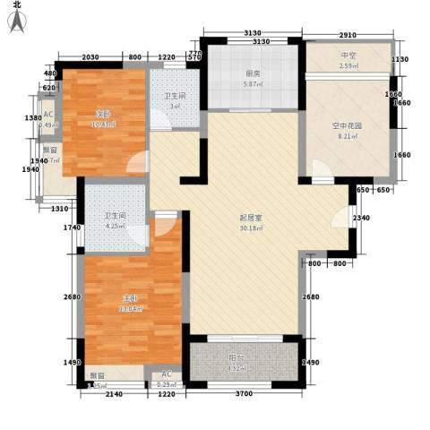 世家英伦2室0厅2卫1厨120.00㎡户型图