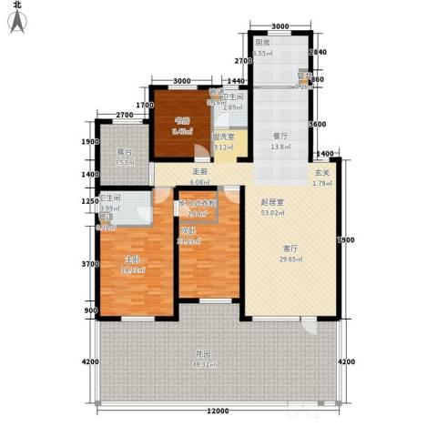 天格东湖湾3室0厅2卫1厨234.00㎡户型图