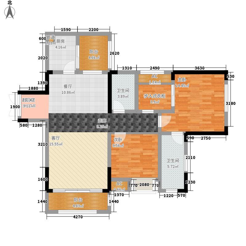 天晋96.43㎡一期3/10号楼标准层A1户型