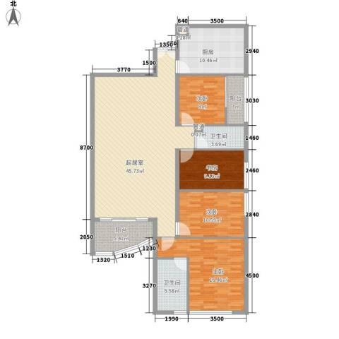 丰兴广场4室0厅2卫1厨165.00㎡户型图