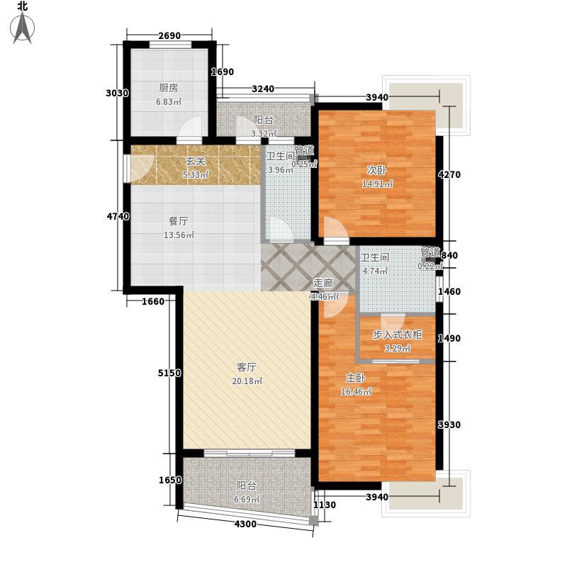 联洋花园118.92㎡联洋花园2室2厅2卫1厨户型2室2厅2卫1厨