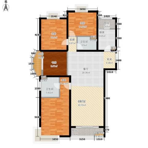新华联丽景4室0厅2卫1厨167.00㎡户型图