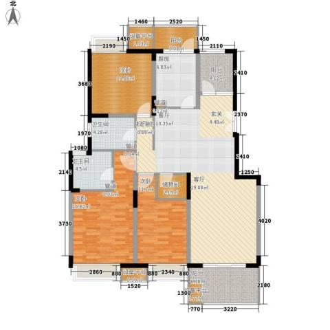 恒基玲珑翠谷3室0厅2卫1厨131.00㎡户型图