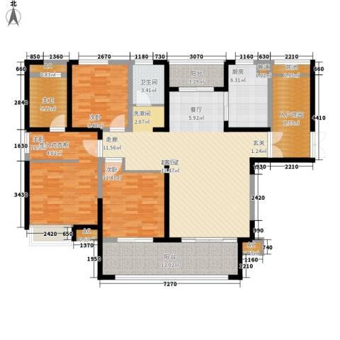 金科新大陆3室0厅1卫1厨137.00㎡户型图