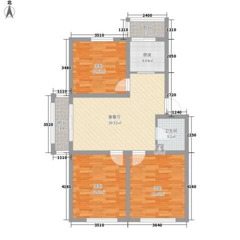 微电子小区3室1厅1卫1厨101.00㎡户型图