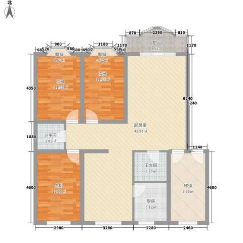 御花苑公寓3室0厅2卫1厨147.00㎡户型图