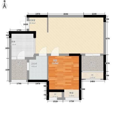 英郡三期1室0厅1卫1厨59.00㎡户型图