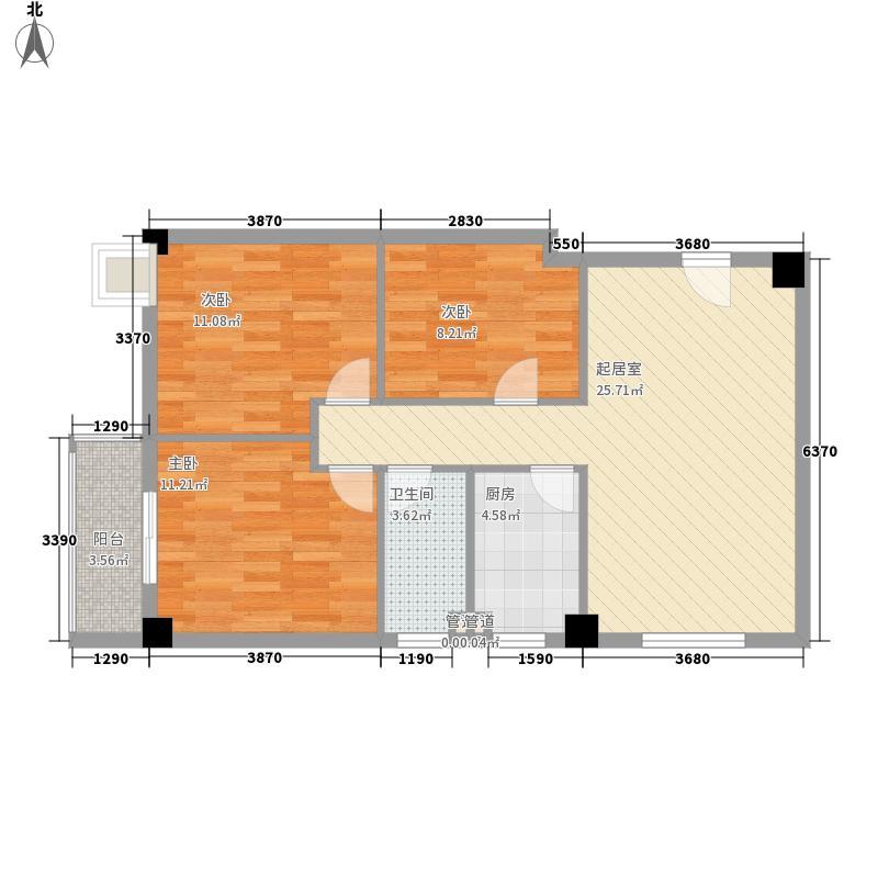 鼓山公寓101.00㎡鼓山公寓户型10室