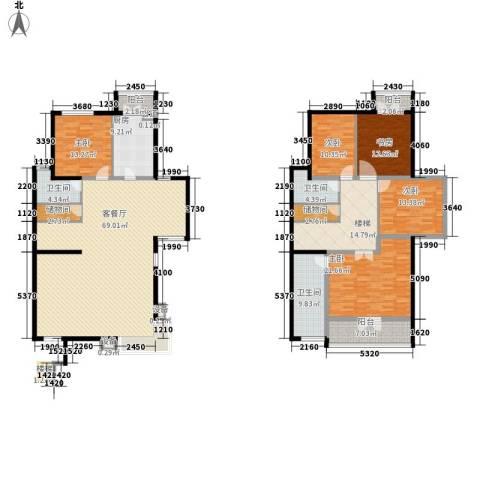 傲城尊邸5室1厅3卫1厨282.00㎡户型图