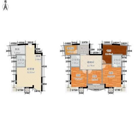 紫金银座4室0厅3卫1厨174.00㎡户型图