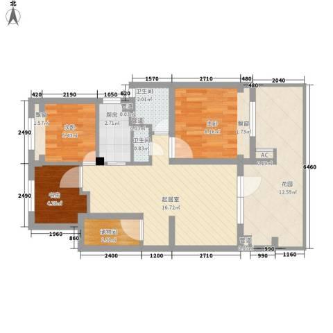 朗诗未来树3室0厅2卫1厨82.00㎡户型图