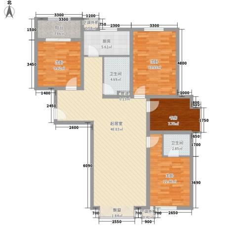 中研小区4室0厅2卫1厨145.00㎡户型图