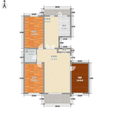 红田美林居3室0厅1卫0厨157.00㎡户型图
