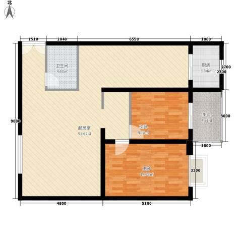 天和学府苑2室0厅1卫1厨121.00㎡户型图