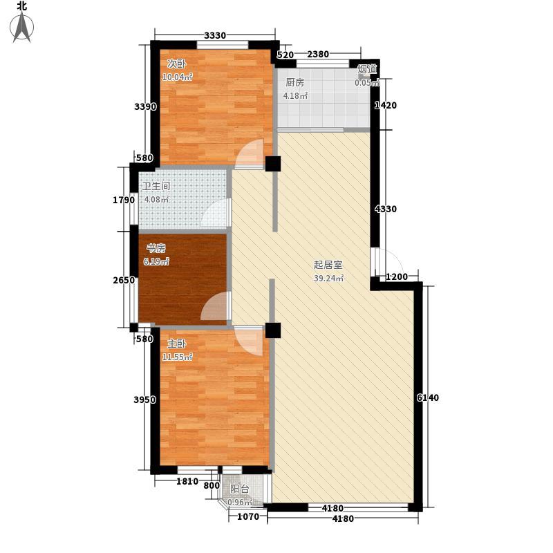陶然居106.06㎡陶然居户型图3室2厅1厨户型10室