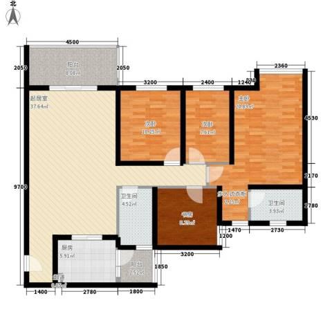 翠怡轩4室0厅2卫1厨142.00㎡户型图