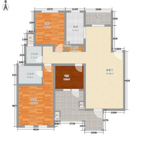 农房・英伦尊邸3室1厅2卫1厨162.00㎡户型图