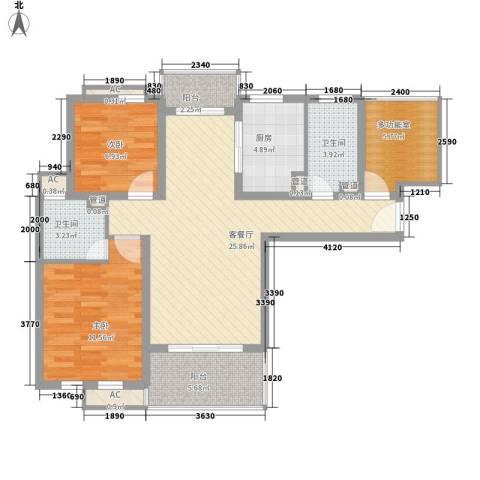 农房・英伦尊邸2室1厅2卫1厨106.00㎡户型图